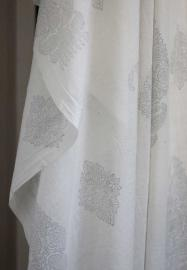 Indiskt tyg - Voile - Paisley Grey - 150 cm bred